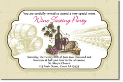 Design online, download jpg immediately DIY wine tasting party invitations