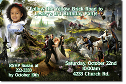 Design online, download jpg immediately DIY wizard of oz party birthday Invitations