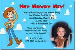 Design online, download jpg immediately DIY woody toy story party birthday Invitations