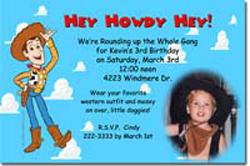 Design online, download jpg immediately DIY woody toy story party birthday Invitations
