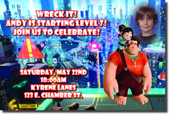 Design online, download jpg immediately DIY wreck it ralph 2 breaks the internet birthday party Invitations
