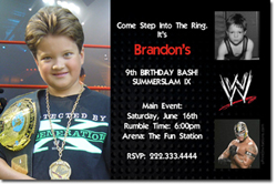 Design online, download jpg immediately DIY wrestling birthday party Invitations