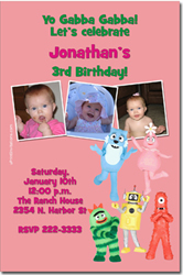 Design online, download jpg immediately DIY yo gabba gabba party birthday Invitations