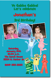 Design online, download jpg immediately DIY yo gabba gabba birthday party Invitations