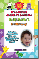 Design online, download jpg immediately DIY zoo party birthday Invitations