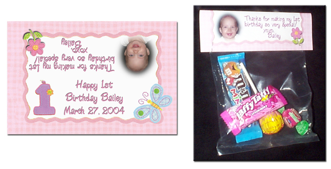Candy Bag Label